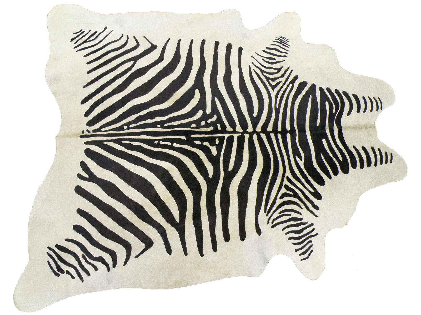 Шкура коровы под зебру белую арт.: 25278