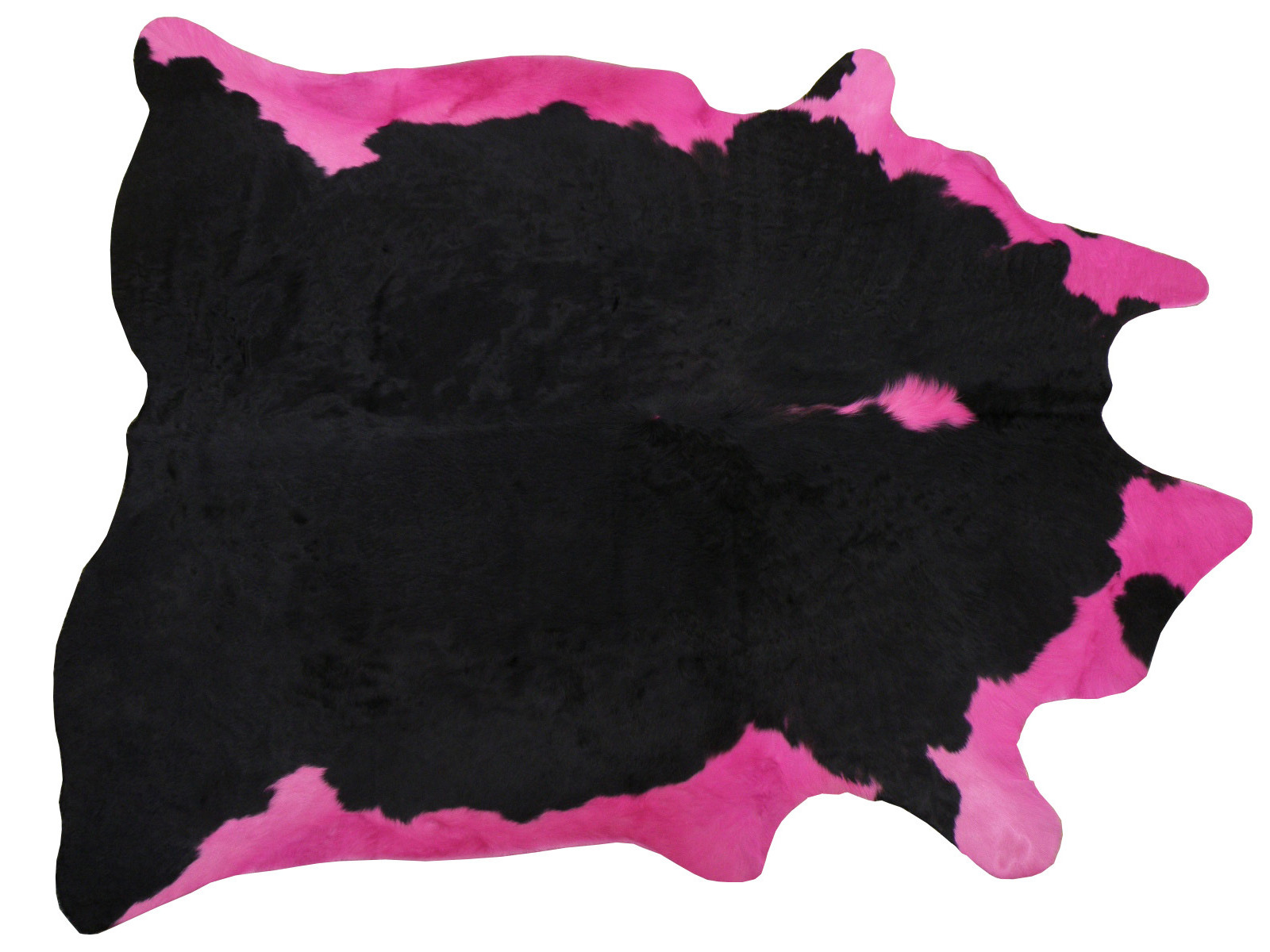 Декоративная шкура коровы черно-розовая арт. 25102