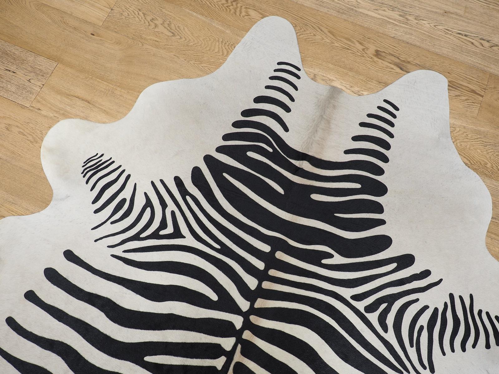 Декоративная шкура коровы под Зебру платиновая арт.: 26120