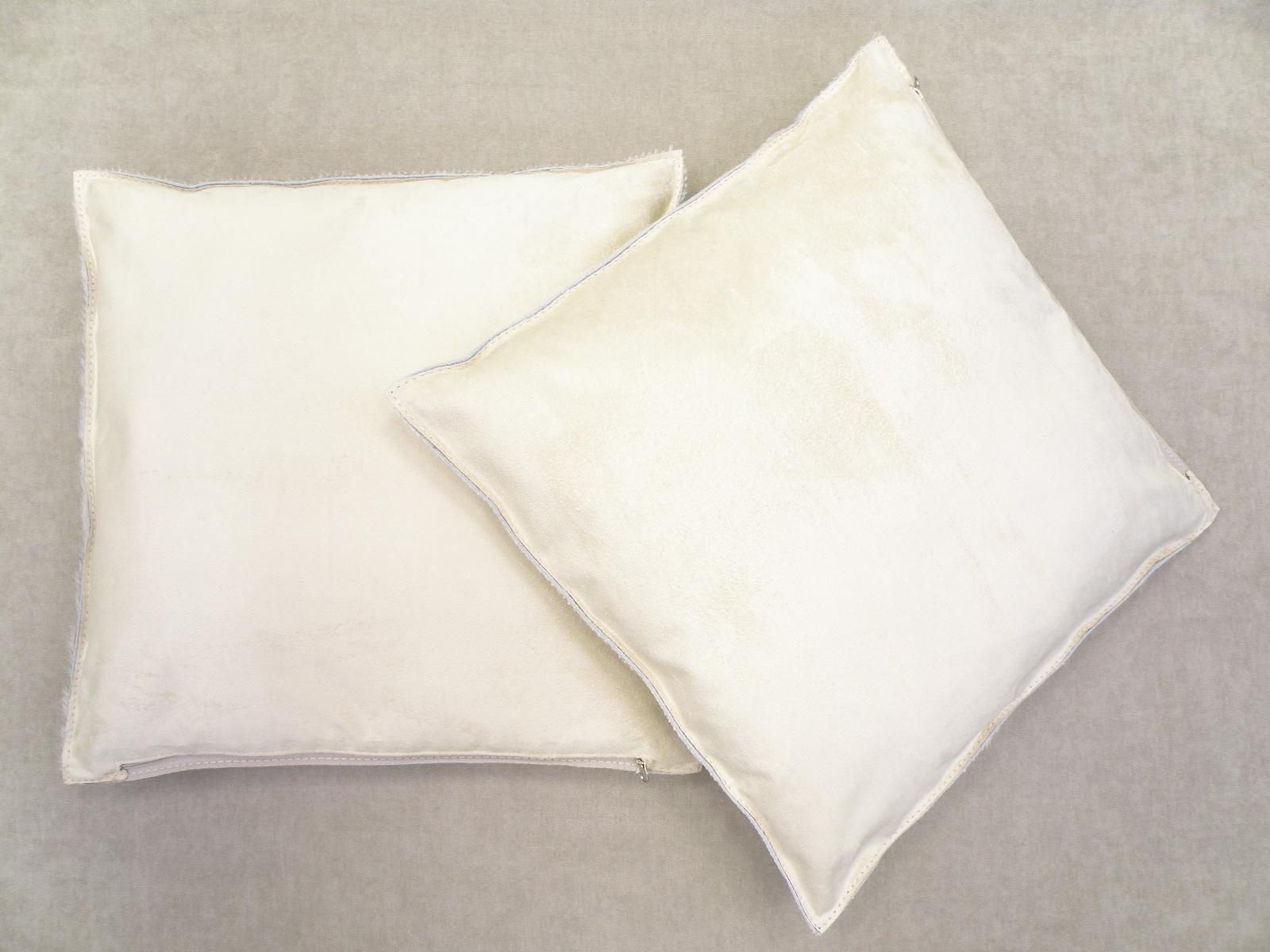 Декоративные подушки из шкур коров почти белые арт.: 23709