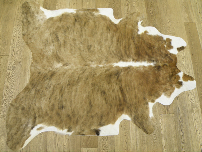 Коровья шкура натуральная бежево-коричневая арт. 25358