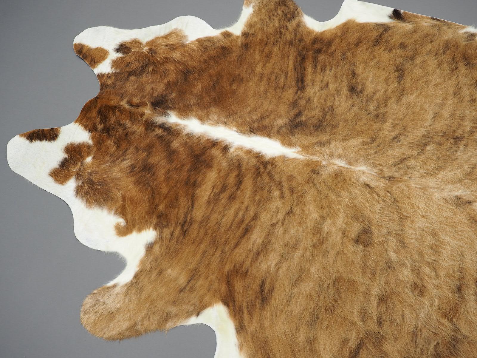 Коровья шкура натуральная бежево-коричневая арт.: 25358